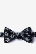 Black Microfiber Atomic Nucleus Self-Tie Bow Tie