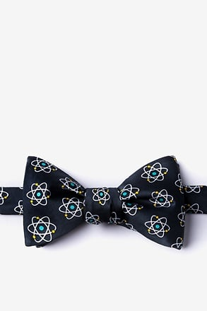 _Atomic Nucleus Black Self-Tie Bow Tie_