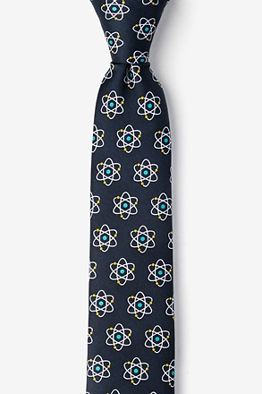 _Atomic Nucleus Black Skinny Tie_