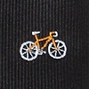 Black Microfiber Bicycles Skinny Tie
