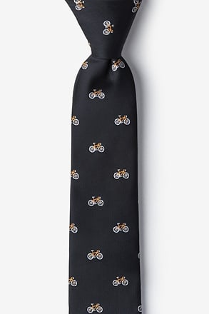 _Bicycles Black Skinny Tie_