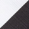 Black Microfiber Black & Off White Stripe