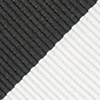 Black Microfiber Black & Off White Stripe Extra Long Tie
