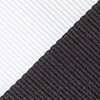 Black Microfiber Black & Off White Stripe Self-Tie Bow Tie