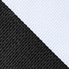 Black Microfiber Black & White Stripe Extra Long Tie