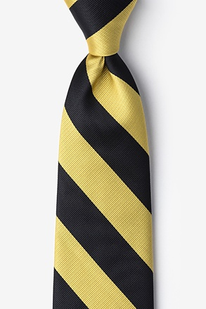 Black & Gold Stripe Extra Long Tie