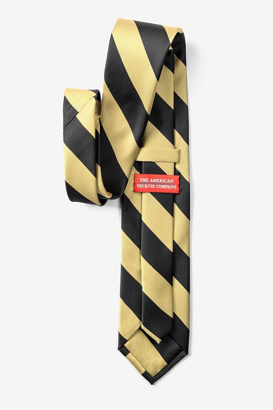 Black & Gold Stripe Extra Long Tie Photo (1)