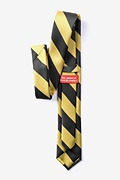 Black & Gold Stripe Skinny Tie Photo (2)