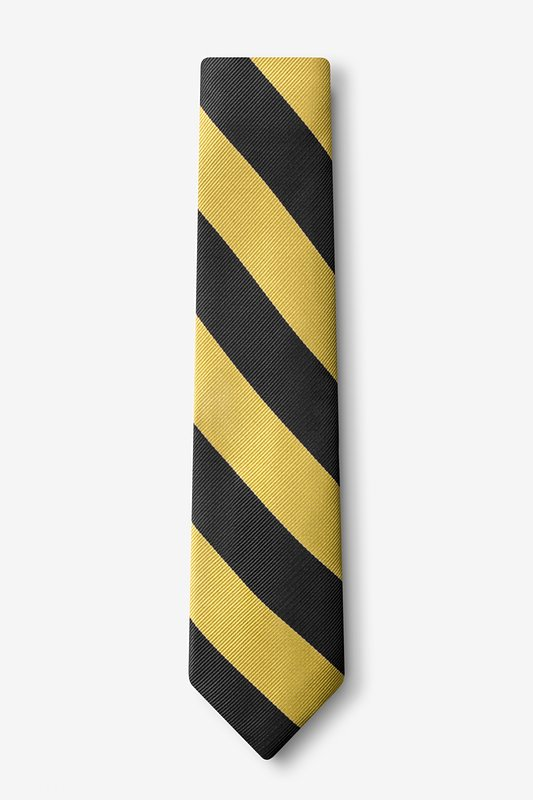 Black & Gold Stripe Tie For Boys