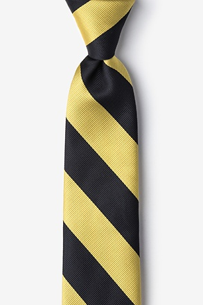 _Black & Gold Stripe Tie For Boys_