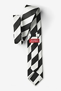 Black & Off White Stripe Extra Long Tie Photo (1)