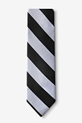 Black & Silver Stripe Extra Long Tie Photo (1)