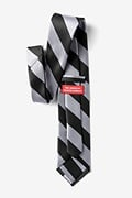 Black & Silver Stripe Extra Long Tie Photo (2)
