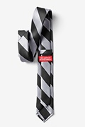 Black & Silver Stripe Skinny Tie Photo (2)