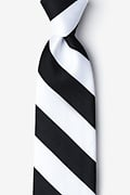 Black & White Stripe Tie Photo (0)