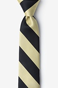 Black & Gold Stripe Skinny Tie