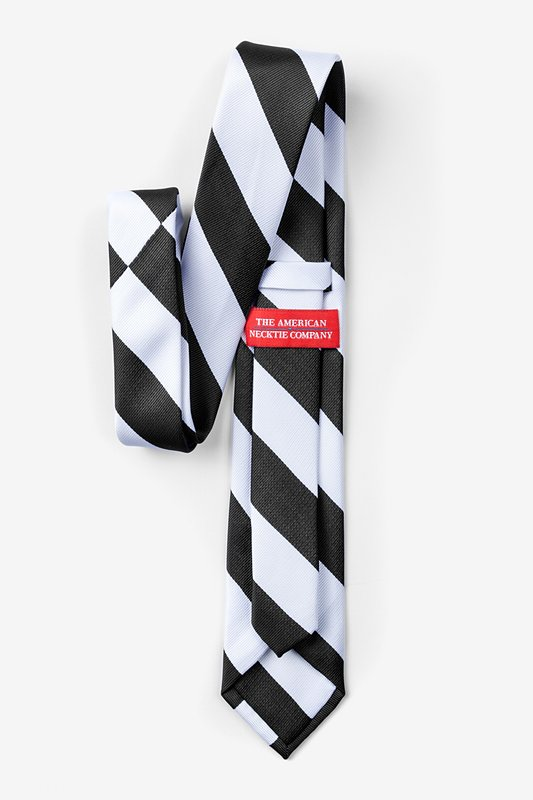 Black & White Stripe Skinny Tie