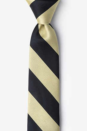 Black And Gold Skinny Tie