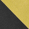 Black Microfiber Black And Gold Stripe Extra Long Tie
