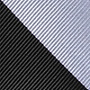 Black Microfiber Black And Silver Stripe Extra Long Tie
