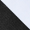 Black Microfiber Black And White Stripe Extra Long Tie