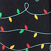 Black Microfiber Christmas Lights Tie
