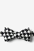 Black Microfiber Dentists' Teeth Bow Tie