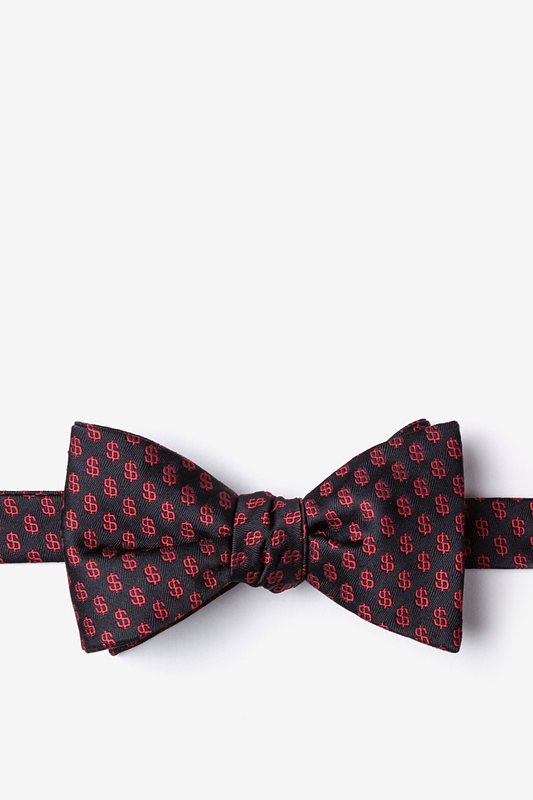 Dollar Signs Butterfly Bow Tie