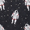 Black Microfiber Floating Astronauts Bow Tie