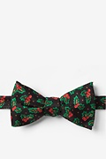 Black Microfiber Holly Butterfly Bow Tie