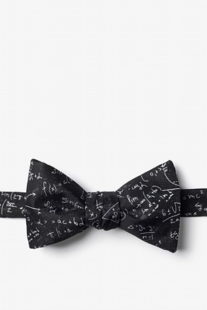 _Math Equations Black Self-Tie Bow Tie_