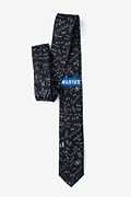 Math Equations Black Skinny Tie Photo (1)