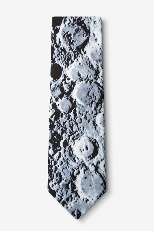 Moons Surface XL Black Extra Long Tie Photo (1)