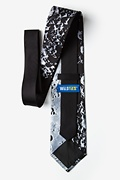 Moons Surface XL Black Extra Long Tie Photo (2)