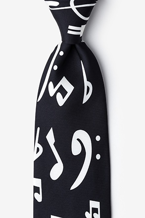 Music Notes 2 Extra Long Tie