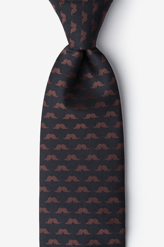 Mustache Repeat Extra Long Tie Photo (0)