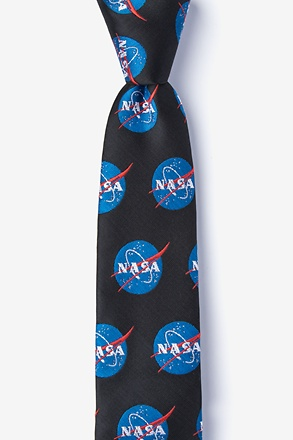 _Nasa Logo Black Tie For Boys_