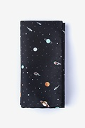Black Microfiber Outer Space Pocket Square