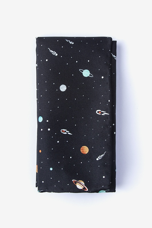 Outer Space Black Pocket Square Photo (0)