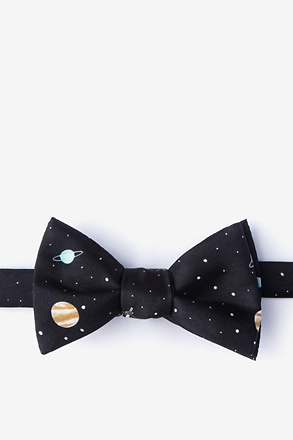 _Outer Space Black Self-Tie Bow Tie_