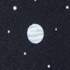 Black Microfiber Outer Space Skinny Tie