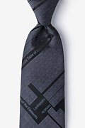 Black Microfiber Periodic Table Extra Long Tie