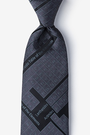 _Periodic Table Black Extra Long Tie_