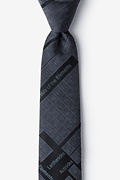Black Microfiber Periodic Table Skinny Tie