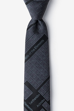 _Periodic Table Black Skinny Tie_