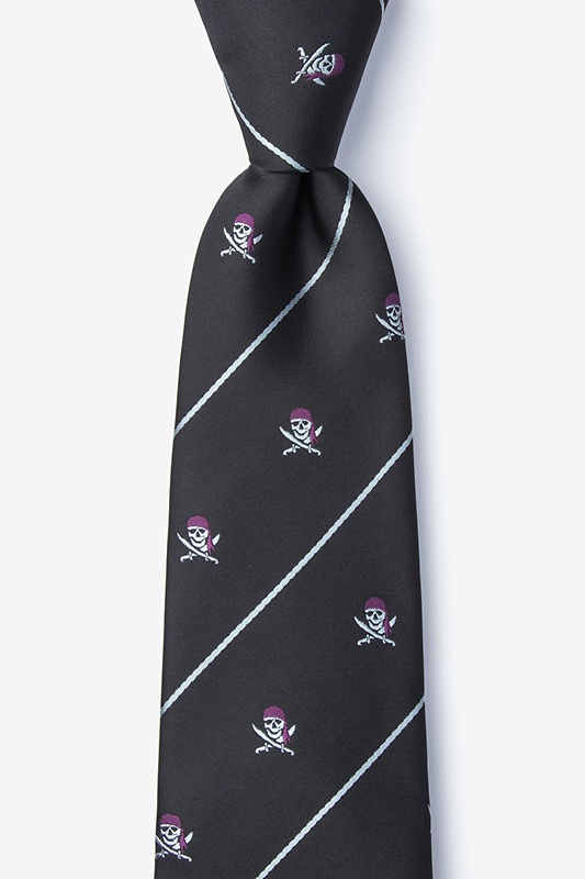 Pirate Skull and Swords Extra Long Tie