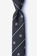 Pirate Skull and Swords Skinny Tie Photo (0)