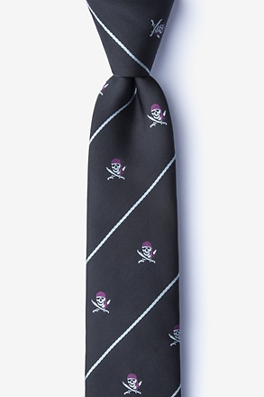 Pirate Skull and Swords Skinny Tie