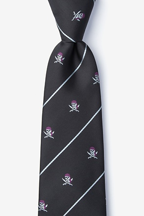 Pirate Skull and Swords Tie