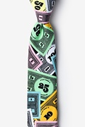 Black Microfiber Play Money Skinny Tie